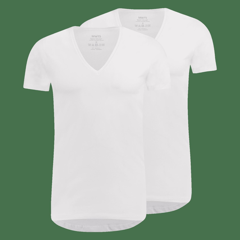 T-shirt diepe V-hals Episch front